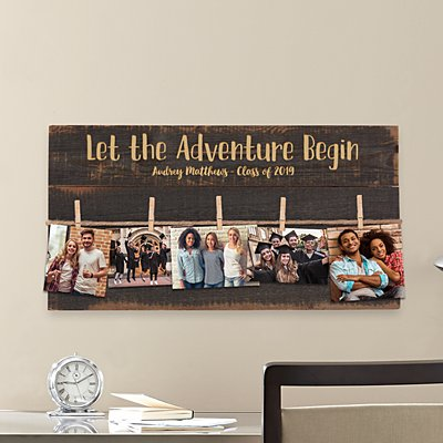 Adventure Begins Graduation Pallet Wall Art