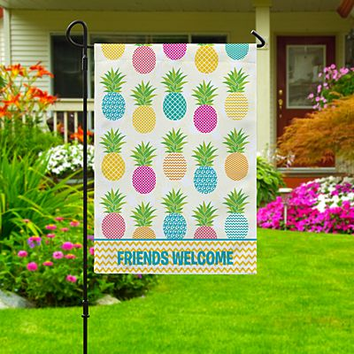 Pineapple Paradise Garden Flag