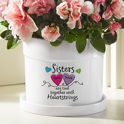 Sisters and Friends Heartstrings Flower Pot