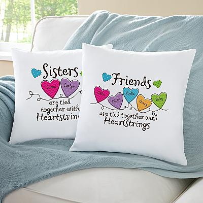 Sisters and Friends Heartstrings Cushion