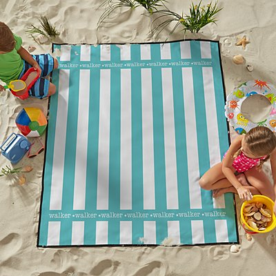 Summer Stripes Family Beach Blanket