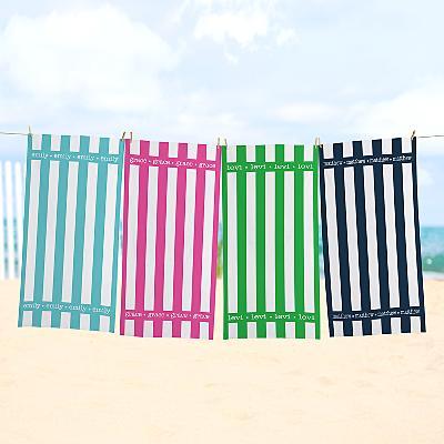 Summer Stripes Beach Towel