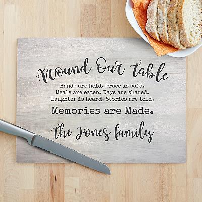 Around Our Table Glass Cutting Board