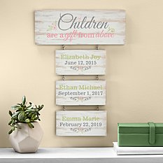 Gift From Above Hanging Wood Wall Art