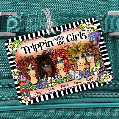 Trippin' with the Girls Luggage Tag by Suzy Toronto