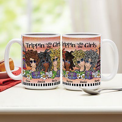 Trippin' with the Girls Mug by Suzy Toronto