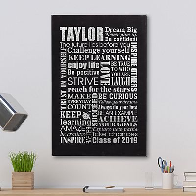 Dream Big Graduation Leather Wall Art