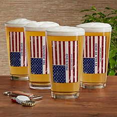 All American Pint Beer Glass