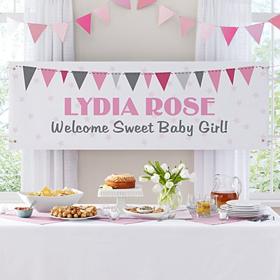 Baby's Big Day Banner