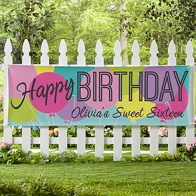 Balloon Birthday Banner