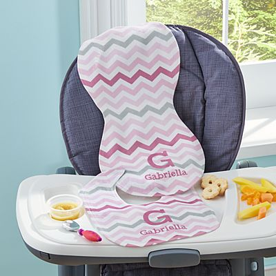 Chevron Fun Bib & Burpcloth Set