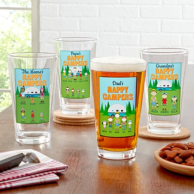 Happy Campers Pint Beer Glass