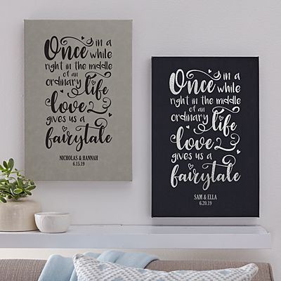 Love Gave Us a Fairytale Leather Wall Art
