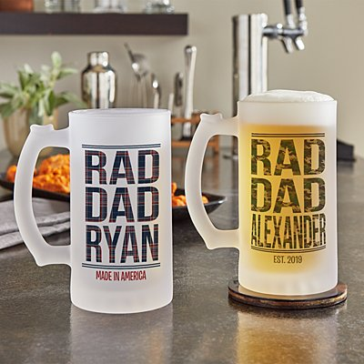Rad Dad Frosted Beer Mug