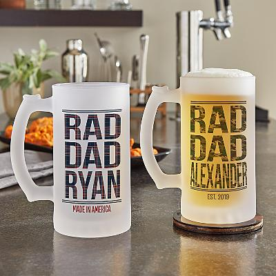 Rad Dad Frosted Beer Glass