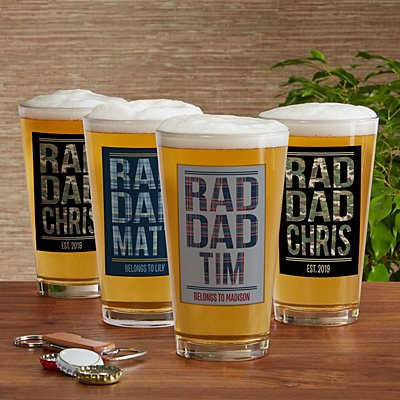 Rad Dad Pint Beer Glass