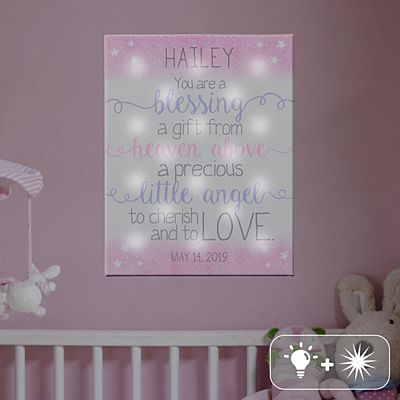 TwinkleBright® LED We Are So Blessed Canvas