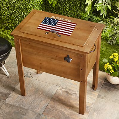 All American Outdoor Wooden Cooler