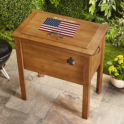 All American Outdoor Wooden Cooler