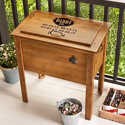 Established Outdoor Wooden Cooler