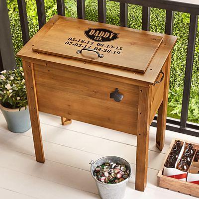 Established Outdoor Wooden Cooler