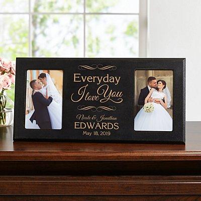 Everyday I Love You Wood Frame