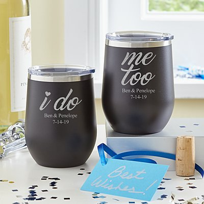 I Do, Me Too Wine Tumbler Set