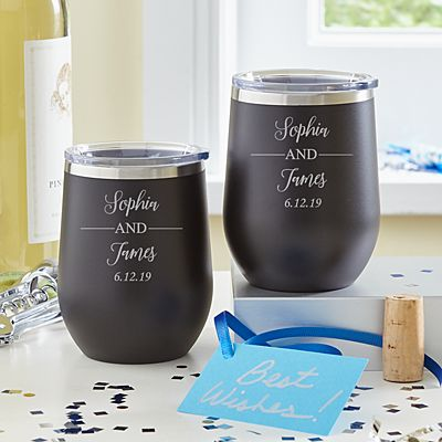 You and Me Insulated Wine Tumbler Set