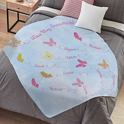 Butterfly Blessings Plush Blanket