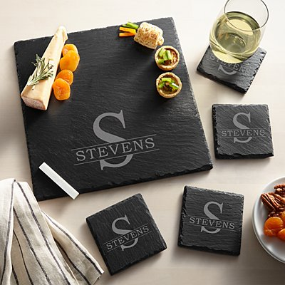 Initially Yours Slate Entertaining 5pc Set