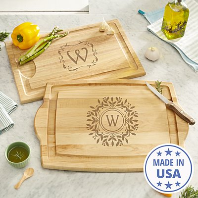 Decorative Monogram Wood Cutting Board