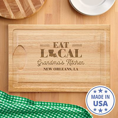 Eat Local Wood Cutting Board