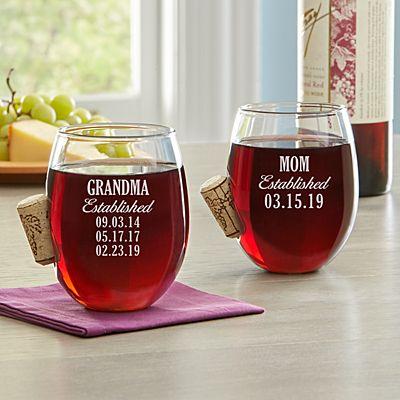 Established Cork Stuck In Wine Glass