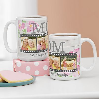 Floral Photo Memory Reel 15oz Mug