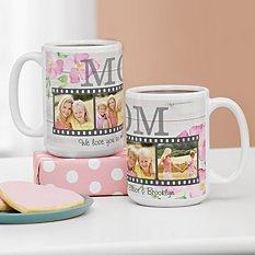 Floral Photo Memory Reel Mug