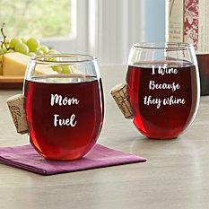 For Her Cork Stuck In Wine Glass