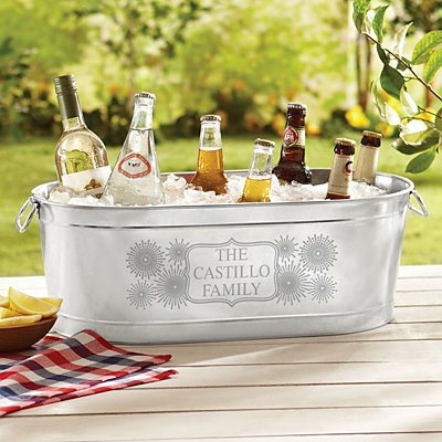 Fun Fireworks Beverage Tub