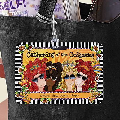 Gathering of the Goddesses Luggage Tag by Suzy Toronto
