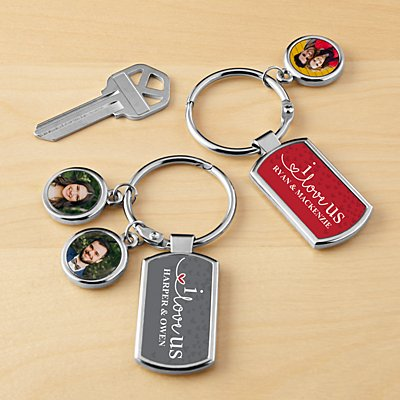 I Love Us Photo Keychain