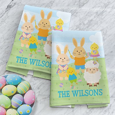 Easter Bunnies Kitchen Towels