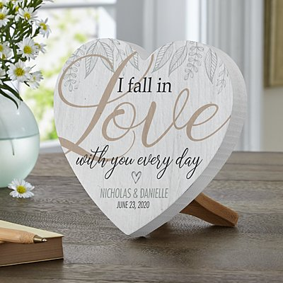 Falling in Love Mini Wood Heart