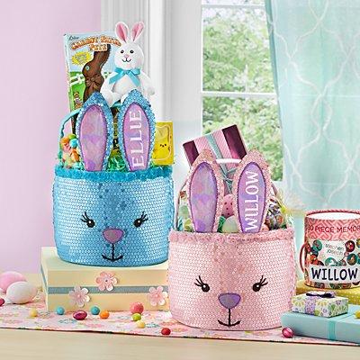 Glitter Bunny Basket