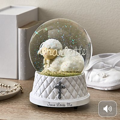 Jesus Loves Me Snow Globe