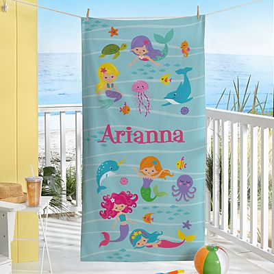 Mermaid Escape Beach Towel