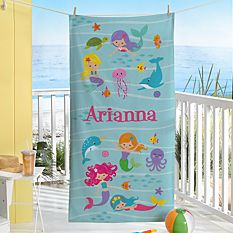 Mermaid Escape Beach Towel