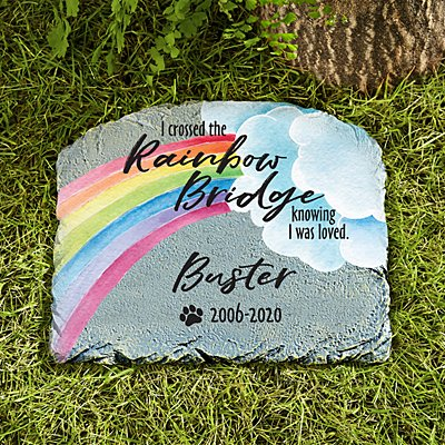 Over The Rainbow Bridge Garden Stone