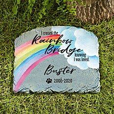 Over The Rainbow Bridge Garden Stone