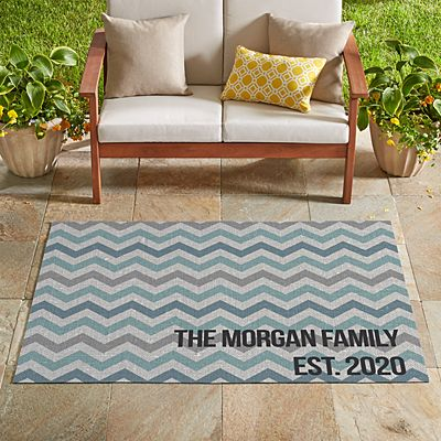 Oversized Chevron Message Outdoor Mat