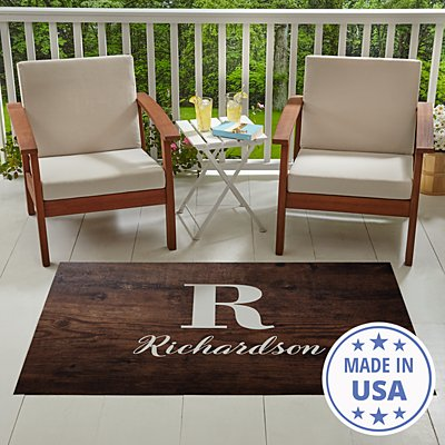 Oversized Initial & Name Outdoor Mat