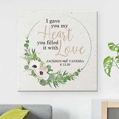 Heart is Filled with Love Canvas